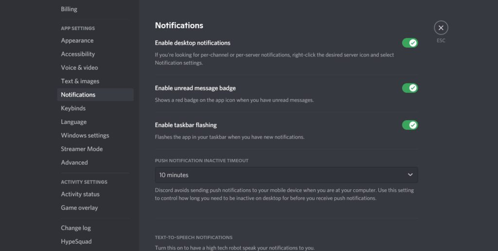 Control your notification Discord Threads